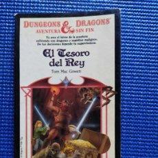 Libros de segunda mano: EL TESORO DEL REY DUNGEONS & DRAGONS TOM MAC GOWEN. Lote 212520381