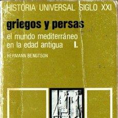 Libros de segunda mano: HISTORIA UNIVERSAL SIGLO XXI Nº 5 : GRIEGOS Y PERSAS (1987). Lote 212665237