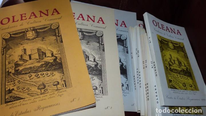 OLEANA. CUADERNOS DE CULTURA COMARCAL,CENTRO ESTUDIOS REQUENENSES- 11 NUMEROS, (Libros de Segunda Mano - Historia - Otros)
