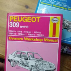 Libros de segunda mano: PEUGEOT 309, OWNERS WORKSHOP MANUAL. EN INGLÉS. ART-815. Lote 212710222