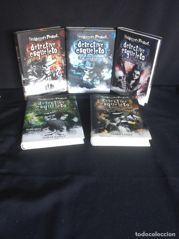 DEREK LANDY - SKULDUGGERY PLEASANT, DETECTIVE ESQUELETO (5 LIBROS) - EDICIONES SM 2007/11 (Libros de Segunda Mano - Literatura Infantil y Juvenil - Otros)