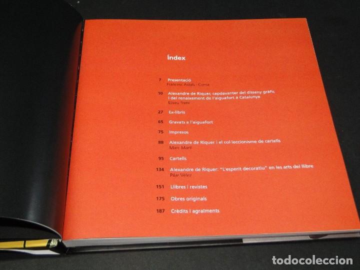 Libros de segunda mano: ALEXANDRE DE RIQUER. -OBRA GRÁFICA - Foto 3 - 212935431