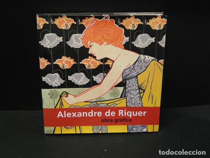 ALEXANDRE DE RIQUER. -OBRA GRÁFICA (Libros de Segunda Mano - Bellas artes, ocio y coleccionismo - Otros)