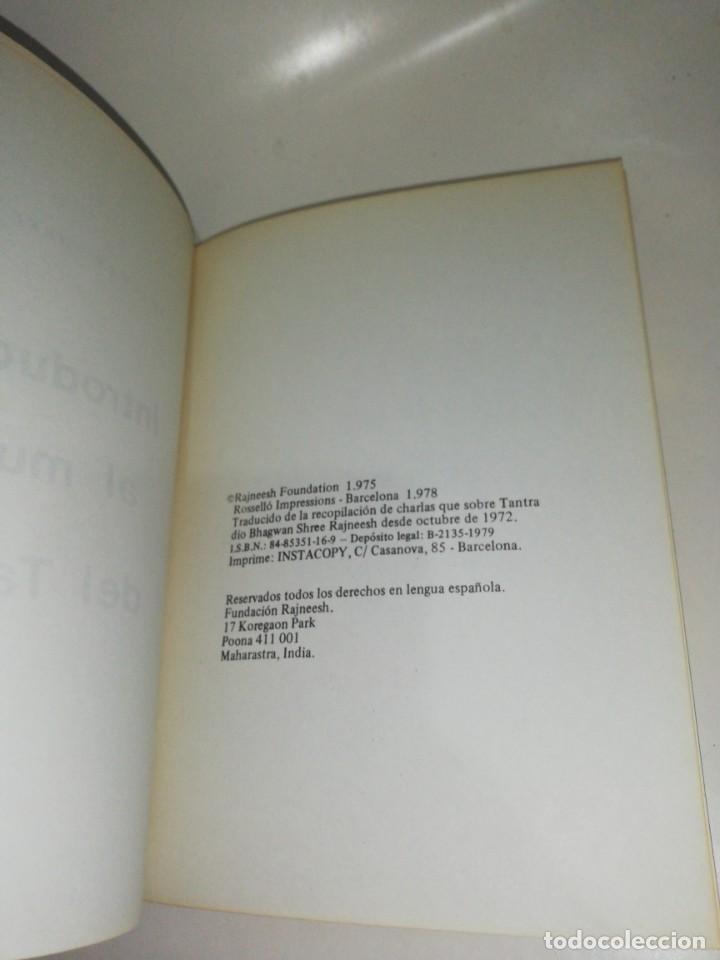 Libros de segunda mano: Osho - introducción al mundo del tantra - Foto 2 - 213031248