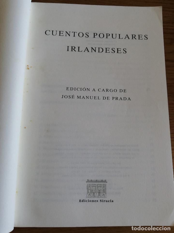 Libros de segunda mano: CUENTOS POPULARES IRLANDESES (LADY WILDE / J. CURTIN / D. HYDE / W.B. YEATS / LADY GREGORY) - Foto 2 - 213076871