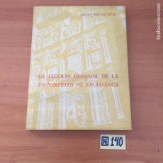 Libros de segunda mano: LA LECCIÓN HUMANA DE LA UNIVERSIDAD DE SALAMANCA. Lote 213157415