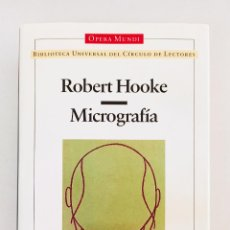 Livros em segunda mão: MICROGRAFÍA. ROBERT HOOKE. OPERA MUNDI.. Lote 213217856