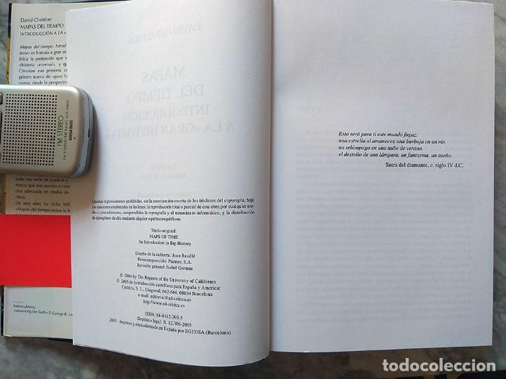 Libros de segunda mano: David Christian: Mapas del tiempo. Introducción a la «gran historia» (editorial Crítica, nuevo) - Foto 4 - 213303931