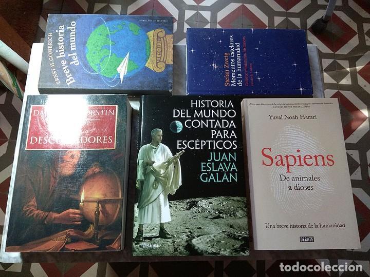 LOTE 5 LIBROS HISTORIA UNIVERSAL JUAN ESLAVA GALÁN MUNDO ESCÉPTICOS YUVAL NOAH HARARI SAPIENS ZWEIG (Libros de Segunda Mano - Historia - Otros)