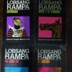 Libros de segunda mano: LOBSAN RAMPA. 4 LIBROS: CREPÚSCULO; EL ERMITAÑO; TAL COMO FUE; USTED Y LA ETERNIDAD.- EDIT. TROQUEL. Lote 213399368