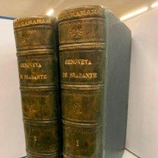 Libros de segunda mano: GENOVEVA DE BRAMANTE, PRECIOSA ENCUADERNACION Y LAMINAS, 2 TOMOS. Lote 213425631