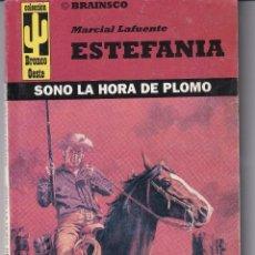 Libros de segunda mano: NOVELA DE ESTEFANIA EDICIÓN BRAINSCO BRONCO OESTE TITULO SONO LA HORA DE PLOMO Nº 107. Lote 213459516