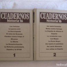 Libros de segunda mano: CUADERNOS HISTORIA 16 VOL I Y VOL. II, CONTIENEN DEL Nº1 AL Nº 20.. Lote 213470440