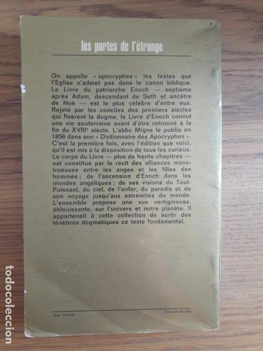 Libros de segunda mano: Esoterique. Occultisme. Le Livre DEnoch, Anonyme, Laffont. 1975 - Foto 3 - 213611208