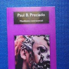 Libri di seconda mano: MANIFIESTO CONTRASEXUAL PAUL B PRECIADO. Lote 213627502