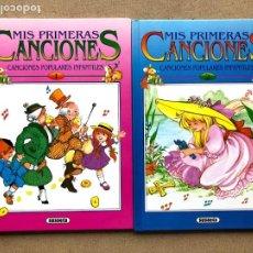 Libri di seconda mano: MIS PRIMERAS CANCIONES 1 Y 2/ CANCIONES POPULARES INFANTILES / SUSAETA /. Lote 228192910