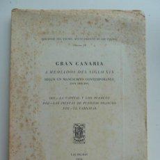 Libros de segunda mano: GRAN CANARIA A MEDIADOS DEL SIGLO XIX. LAS PALMAS 1950. Lote 213862716