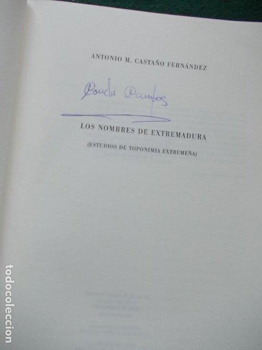 Libros de segunda mano: LOS NOMBRES DE EXTREMADURA ESTUDIOS DE TOPONIMIA EXTREMEÑA CON SOPORTE INFORMATICO - Foto 4 - 213868187