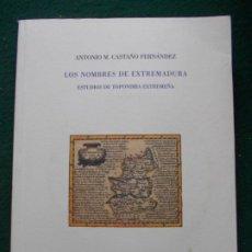 Libros de segunda mano: LOS NOMBRES DE EXTREMADURA ESTUDIOS DE TOPONIMIA EXTREMEÑA CON SOPORTE INFORMATICO. Lote 213868187