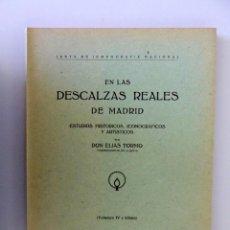 Libros de segunda mano: DON ELÍAS TORMO // EN LAS DESCALZAS REALES DE MADRID // ESTUDIOS HISTÓRICOS, ICONOGRÁFICOS. Lote 213878052