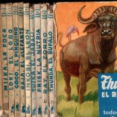 Libros de segunda mano: NERNARD RUTLEY : VIDAS DE ANIMALES SALVAJES MOLINO COMPLETA ,- 14 TOMOS. Lote 213880813