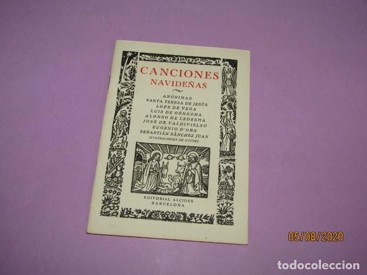 ANTIGUO LIBRO CANCIONES NAVIDEÑAS EDITORIAL ALCIDES E ILUSTRACIONES DE D'IVORI DEL AÑO 1939 (Libros de Segunda Mano - Literatura Infantil y Juvenil - Otros)