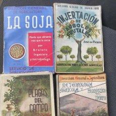 Libros de segunda mano: LIBROS ANTIGUOS DE AGRICULTURA LOTE DE 4 UDS. PLAGAS DEL CAMPO, LA SOJA, INJERTACION DE ARBOLES FRUT. Lote 214095475