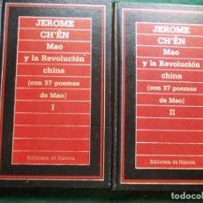 Libros de segunda mano: BIBLIOTECA DE LA HISTORIA DOS TOMOS MAO Y LA REVOLUCION CHINA JEROME. Lote 214129601