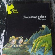 Libros de segunda mano: EL MONSTRUO GOLOSO. PRELLER, JAMES. ED. EDELVIVES. NINO PUZLE. Lote 214140393