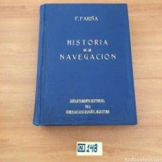 Libros de segunda mano: HISTORIA DE LA NAVEGACIÓN. Lote 214148882