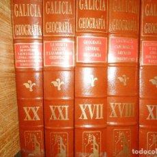Libros de segunda mano: FRANCISCO RODRÍGUEZ IGLESIAS GALICIA NATURALEZA .GEOGRAFÍA ( 5 TOMO) Q2174A. Lote 214255378