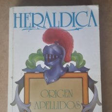 Libros de segunda mano: HERÁLDICA. ORIGEN APELLIDOS Y ESCUDOS. BUENO TELLO, ANTONIO.. Lote 252508025