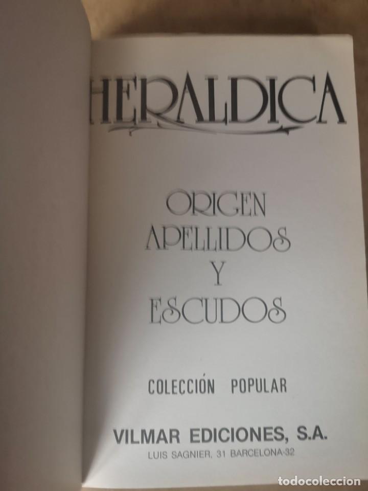Libros de segunda mano: Heráldica. Origen apellidos y escudos. BUENO TELLO, Antonio. - Foto 3 - 252508025