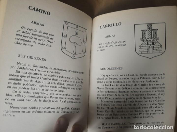 Libros de segunda mano: Heráldica. Origen apellidos y escudos. BUENO TELLO, Antonio. - Foto 4 - 252508025
