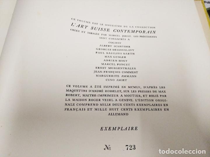 Libros de segunda mano: LA SCULPTURE MODERNE EN SUISSE .MARCEL JORAY. 1955. EJEMPLAR NUMERADO . GIACOMETTI , MÜLLER , - Foto 17 - 214335898