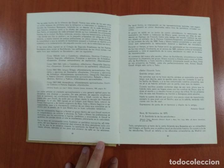 Libros de segunda mano: NUEVA VISIÓN DE GAUDÍ. E. CASANELLES. EDICIONES LA POLIGRAFA, S.A. Barcelona. 1965. - Foto 4 - 214351947