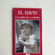 Libros de segunda mano: EL DAVID Y LA GALERÍA DE LA ACADEMIA. Lote 214516012