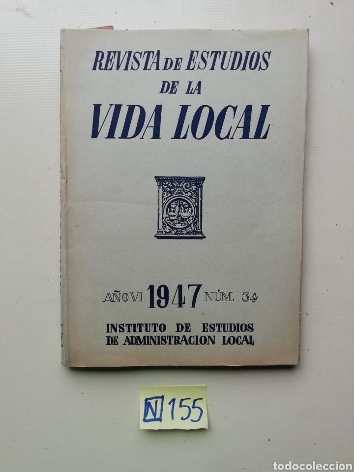 REVISTA DE ESTUDIOS DE LA VIDA LOCAL (Libros de Segunda Mano - Ciencias, Manuales y Oficios - Otros)