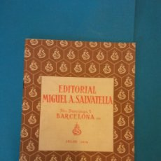 Libros de segunda mano: EDITORIAL MIGUEL A. SALVATELLA. TEMAS PRÁCTICOS DE TRABAJO ESCOLAR. JULIO 197. Lote 214607297