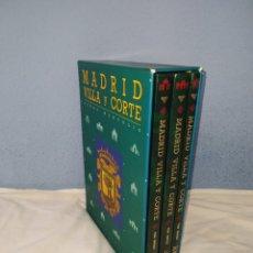 Libros de segunda mano: MADRID VILLA Y CORTE PEDRO MONTOLIU SÍLEX EDICIONES 3 TOMOS EN CAJA. Lote 215019181