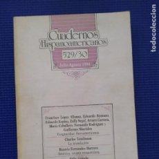 Libros de segunda mano: CUADERNOS HISPANOAMERICANOS 529 530 JULIO AGOSTO 1994. Lote 215093181