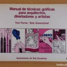 Livros em segunda mão: MANUAL DE TÉCNICAS GRÁFICAS PARA ARQUITECTOS, DISEÑADORES Y ARTISTAS / TOM PORTER..... Lote 215418271
