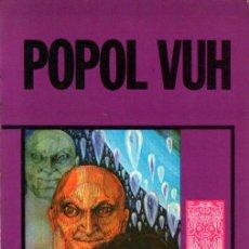 Libros de segunda mano: POPOL VUH (ARIEL ESOTÉRICA, 1976). Lote 215670521