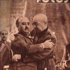 Libros de segunda mano: REVISTA FOTOS POST GUERRA CIVIL Nº 136 - 7 OCTUBRE 1939. Lote 215918581