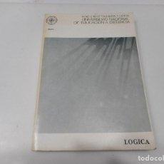 Libros de segunda mano: LÓGICA UNIVERSIDAD NACIONAL DE EDUCACIÓN A DISTANCIA Q2505T. Lote 216441271