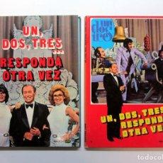 Libros de segunda mano: UN, DOS, TRES... RESPONDA OTRA VEZ. NÚMS. 1 Y 2. PUBLICACIONES LAIDA 1976. TAPA DURA. Lote 216556321