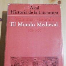 Libros de segunda mano: EL MUNDO MEDIEVAL 600 - 1400. VOLUMEN SEGUNDO (AKAL, HISTORIA DE LA LITERATURA). Lote 216730513