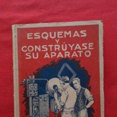 Libros de segunda mano: ESQUEMAS Y CONSTRUYASE SU APARATO. AGUSTIN RIU SINTES BARCELONA 1926. Lote 216758973