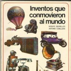 Libros de segunda mano: INVENTOS QUE CONMOVIERON EL MUNDO - SERIE TEMATICA ILUSTRADA - Nº1. Lote 217085256