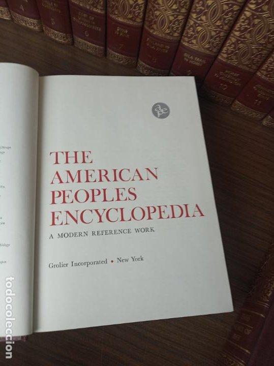 Libros de segunda mano: The american peoples encyclopedia. A Modern reference work. 20 volúmenes. New York. 1965. - Foto 7 - 217124823